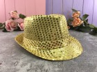 Шляпа Твист золотая