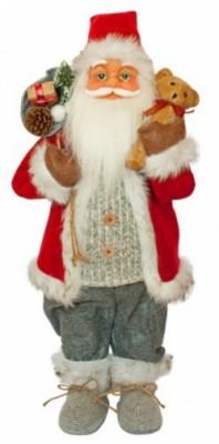 Фигурка новогодняя Санта Клаус, 61 см Красный / Серый