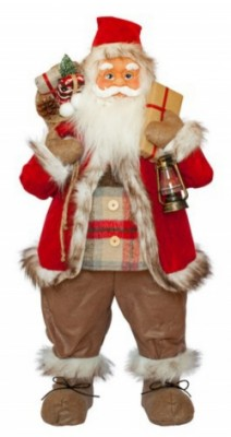 Фигурка новогодняя Санта Клаус, 81 см Красный/Коричневый