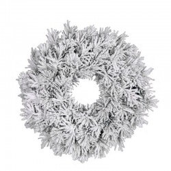 Венок 0,45 см. декоративный Dinsmore Frosted зеленый со снегом