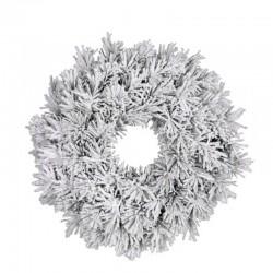 Венок 60 см. декоративный Dinsmore Frosted зеленый со снегом