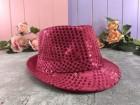 Шляпа Твист малиновая