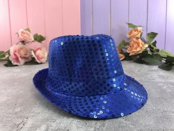 Шляпа Твист синяя