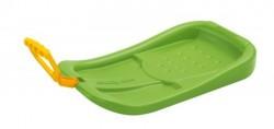 Зимние санки-ледянка CRAZY RUN, зеленые