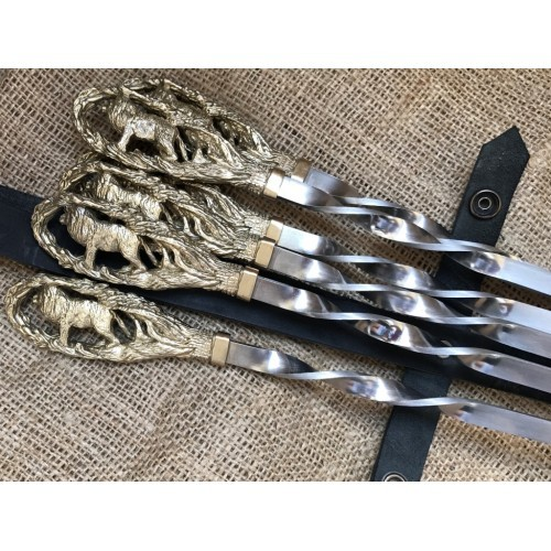 Набор шампуров Лев с ножом