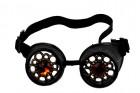 Очки Стимпанк с кристаллами черные