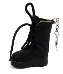 Зажигалка брелок Ботинок с фонариком черный