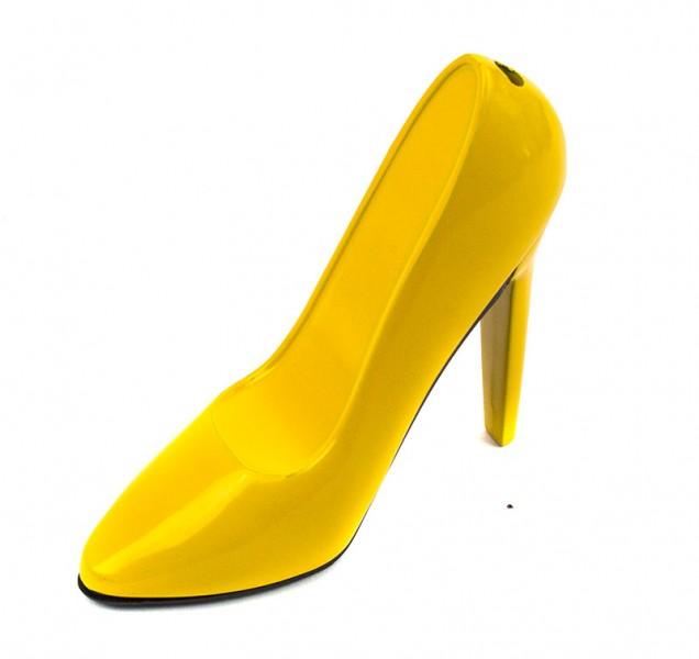 Зажигалка Туфелька желтая