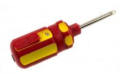 Зажигалка отвёртка желто-красная