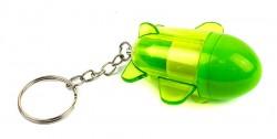 Брелок ручка ракета зеленая