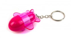 Брелок ручка ракета розовая