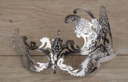 Венецианская маска Афродита серебряная