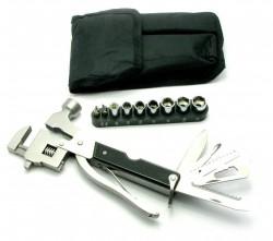 Нож-разводной ключ, молоток с набором инструментов