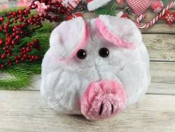 Шапка Поросенок с розовым пятачком