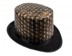 Шляпа Цилиндр с черепами