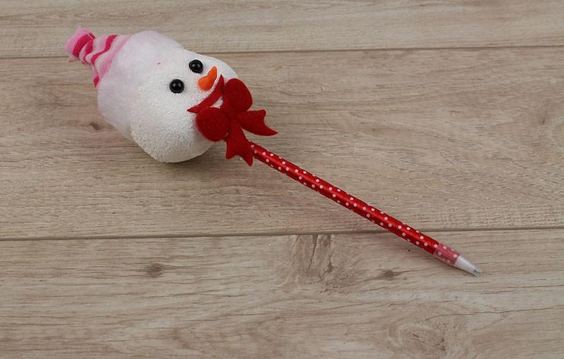 Новогодняя ручка Снеговик в шапке