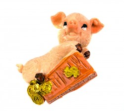Магнит на холодильник Свинка символ года