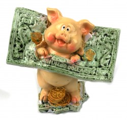 Статуэтка Поросенок с долларом