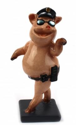 Статуэтка Свинка полицейский