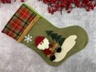 Рождественский носок Christmas sock зеленый