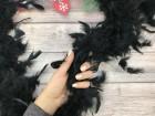 Боа перьевое черный