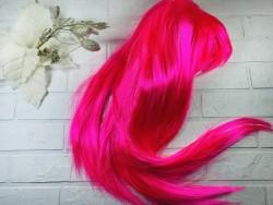 Парик ровный розовый