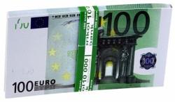 Денежный блокнот пачка 100 евро
