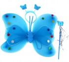Набор крылья бабочки с цветочками синие