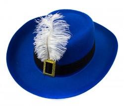 Шляпа детская Мушкетер синяя