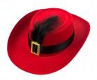 Шляпа детская Мушкетер красная