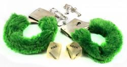Наручники с кубиками зеленые