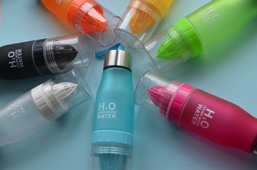Спортивная бутылка соковыжималка H2O water bottle