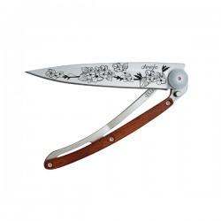 Нож Deejo Tattoo Wood 37 g, Rosewood, Cherry blossom