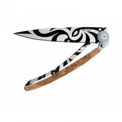 Нож Deejo Tattoo Wood 37 g, Juniper, Maori