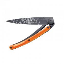 Нож Deejo Tattoo Black 37 g, Orange, Skate