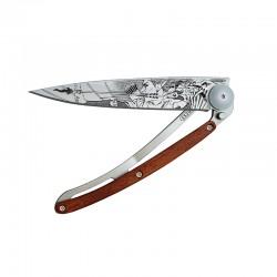 Нож Deejo Tattoo Wood 37 g, Coralwood, Elf