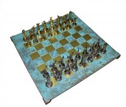 Шахматы Manopoulos Дискобол, бирюзовые