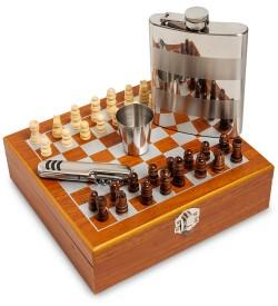 Подарочный набор фляжка со стопкой Шахматы
