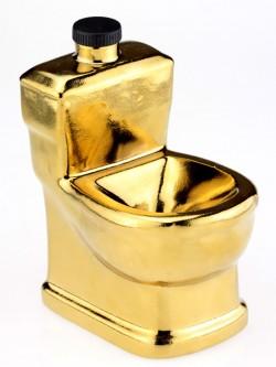 Унитаз золотой графин штоф с подставкой