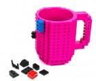 Кружка-конструктор LEGO  малиновая