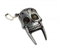 Зажигалка Череп с клыками серебро