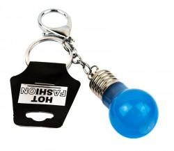 Брелок для ключей Лампочка светящийся синий
