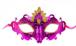 Венецианская маска розовая