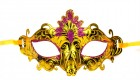 Венецианская маска золотистая