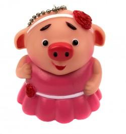 Брелок Свинка в розовом платье