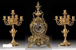 Набор Virtus. Часы настольные Golfino 5156+пара канделябров Bola Coqu 4020 на 5 свечей