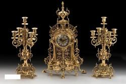 Набор Virtus. Часы настольные HF 5632+пара канделябров HF 4150 на 5 свечей