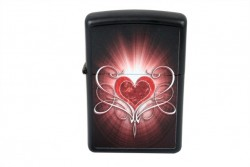 Зажигалка Zippo 28043 LOVE HEART BLACK MATTE