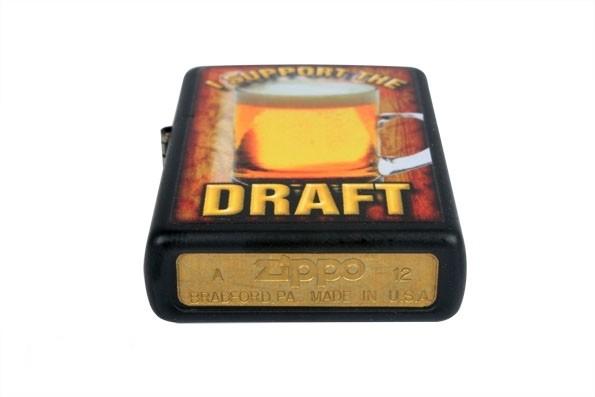 Зажигалка ZIPPO 28294 I SUPPORT THE DRAFT BLACK MATTE