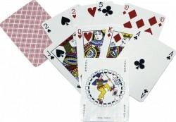 Карты игральные атласные Duke Rami 54 листа 88x63 мм Красные DN24014Red